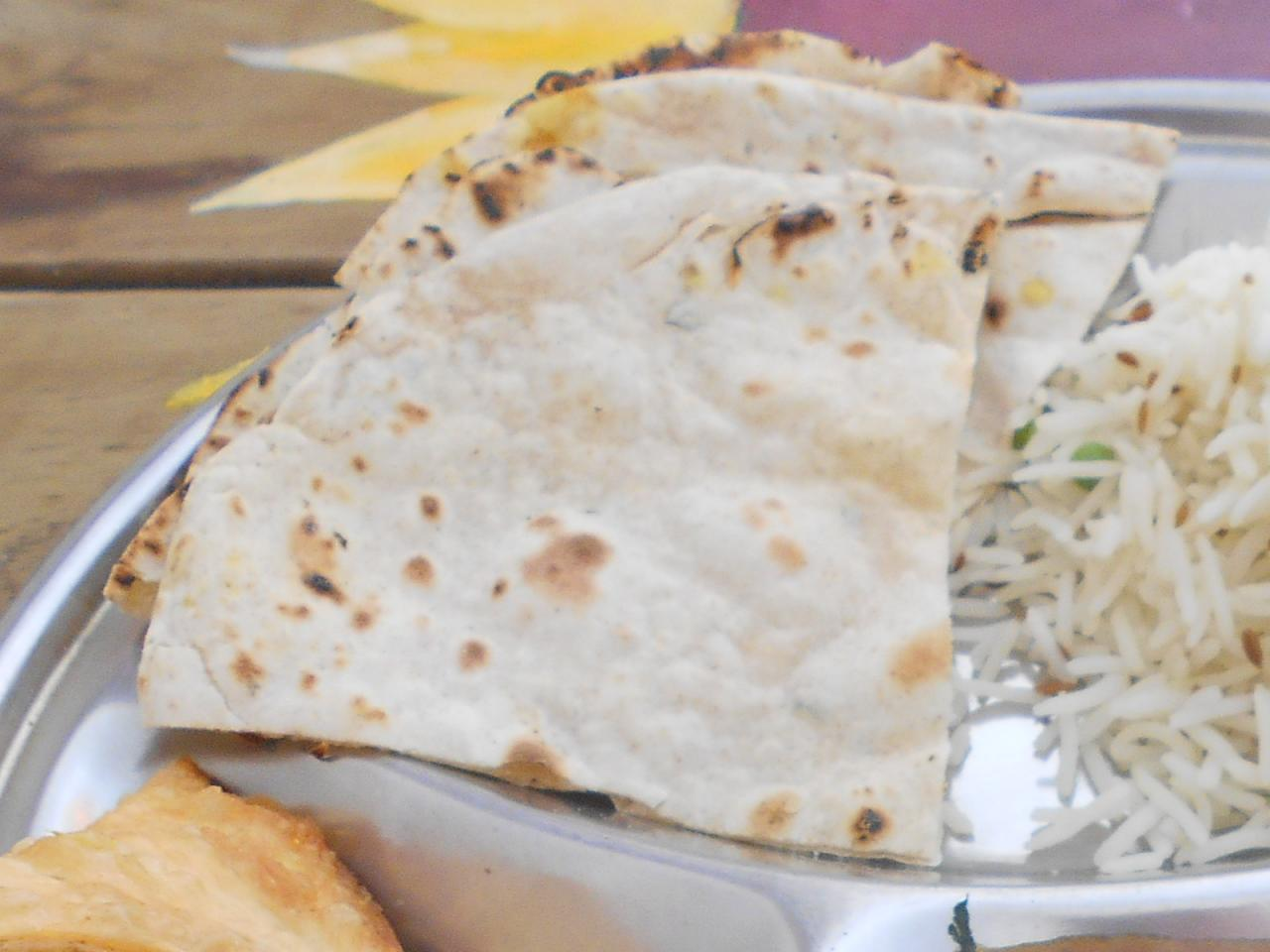 The chapati received a 10-rating