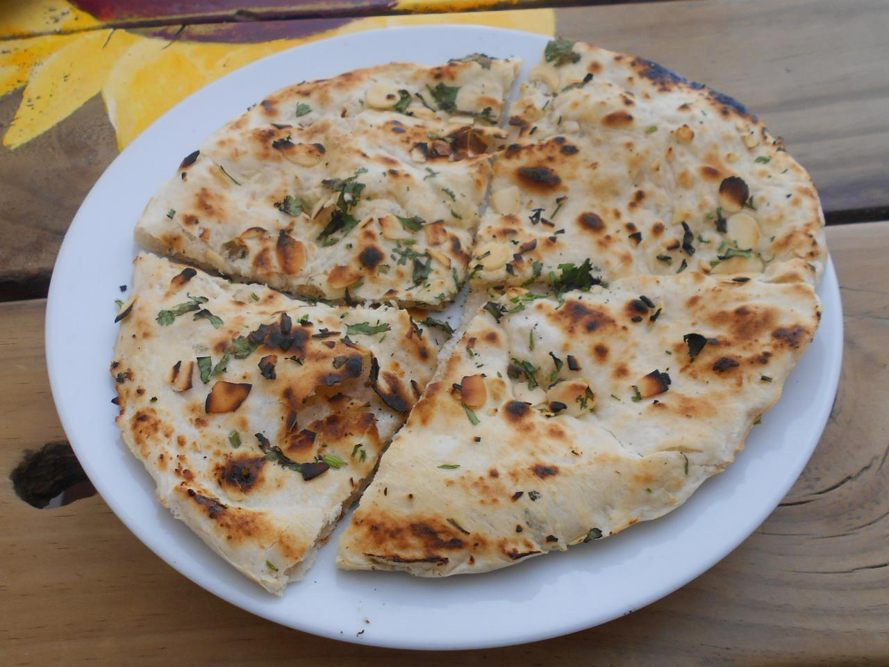 The coconut-flavoured naan bread