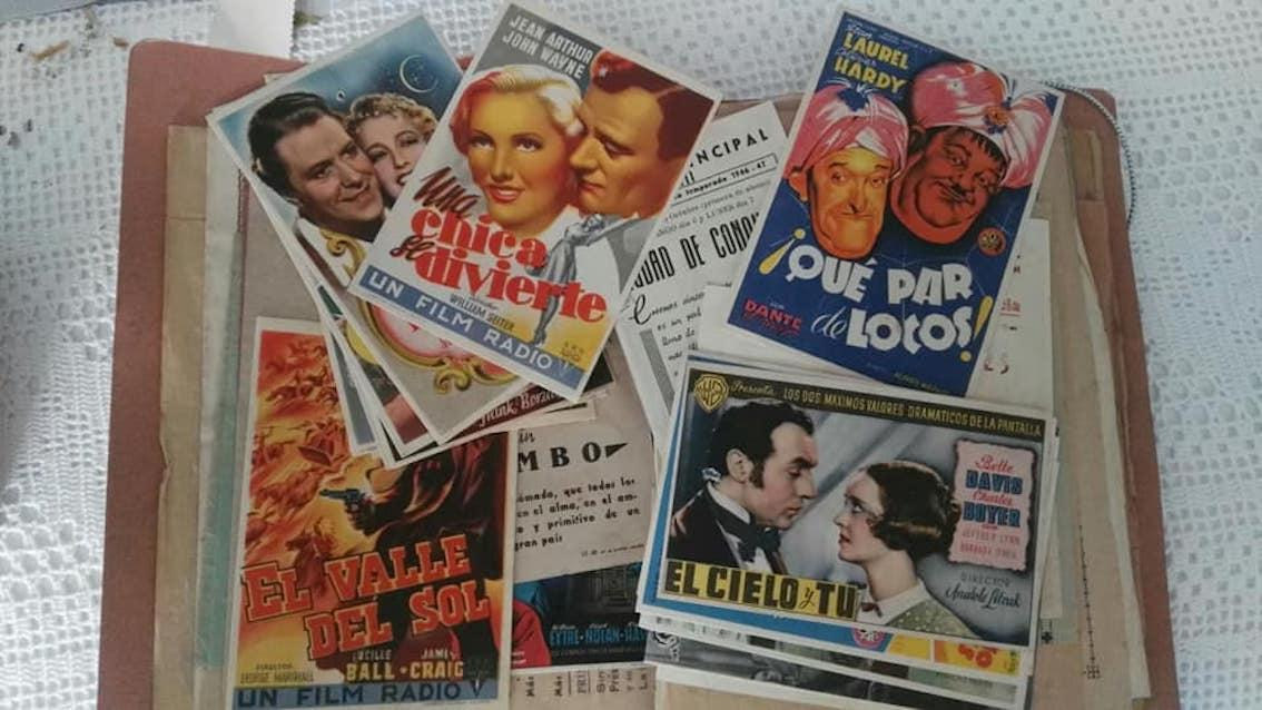 Promotional material for films inherited by Dani.