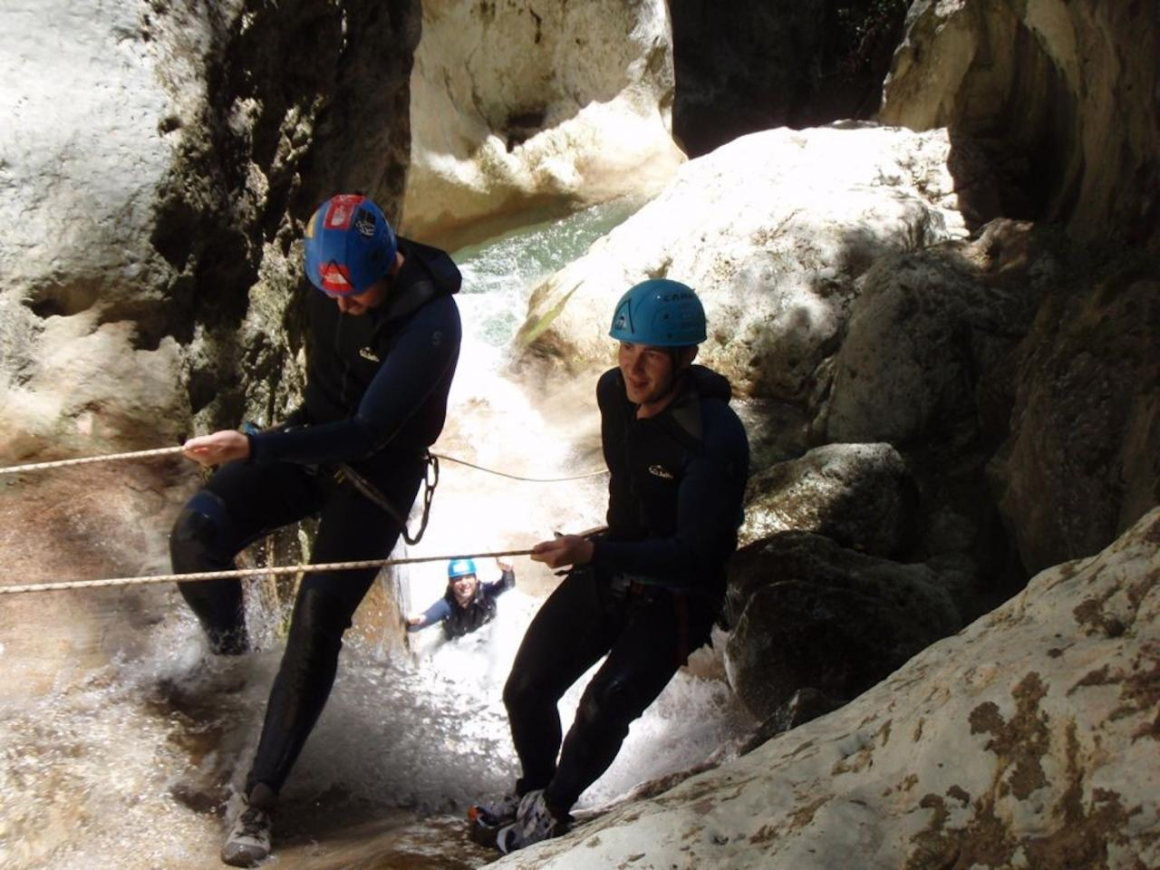 Mountain climbing in Torrent de Coanegra with Guid Hendirk Uhlemann.
