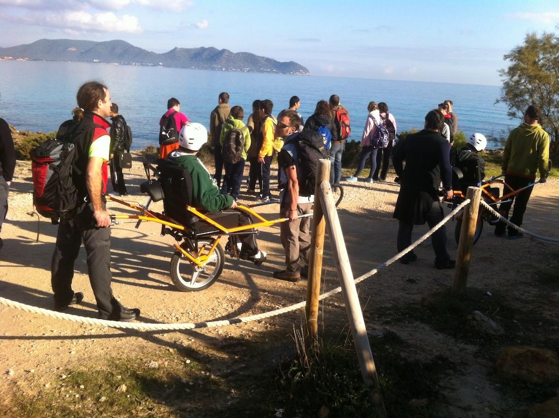 Aprosim volunteers during an excursion to the tip of n'Amer with Guides & Technicians: Eduard Casajuana, Pep Homs, Pep Platel, Sebastia Alberti & Francisco Cabrera.