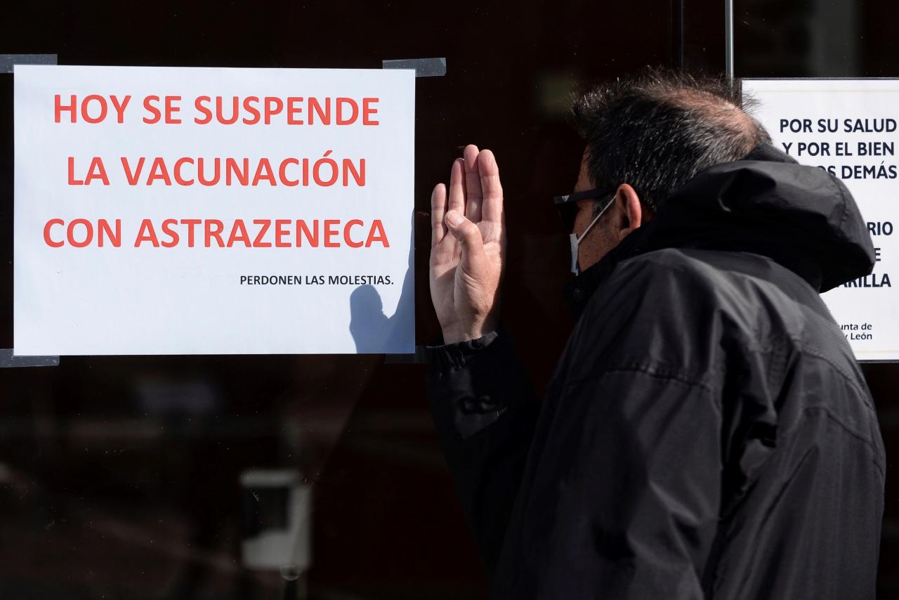 Castille and Leon region suspended AstraZeneca COVID-19 shots pending a European Medicines Agency (EMA) safety report