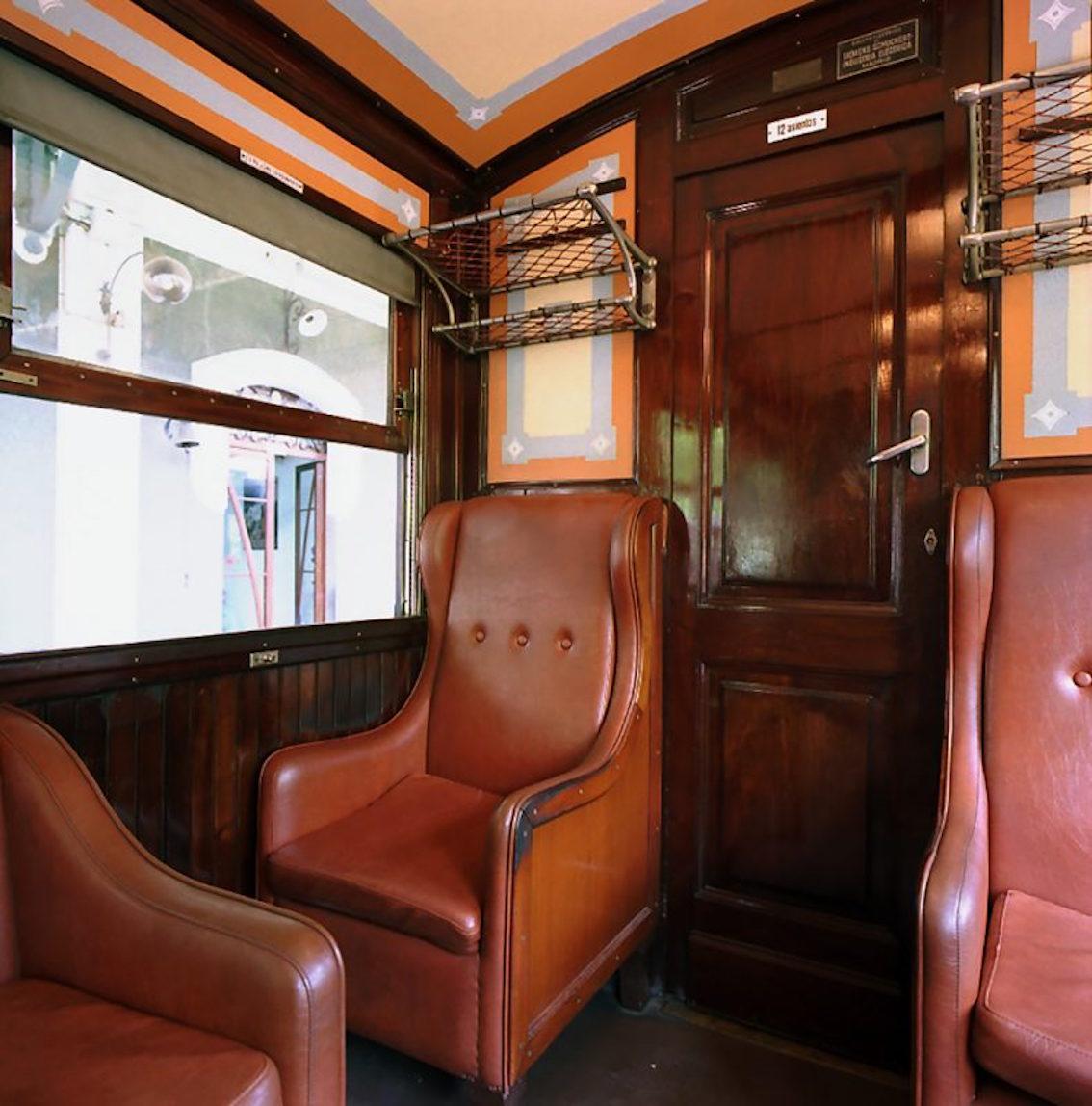 Vintage Soller Train interior, Mallorca.