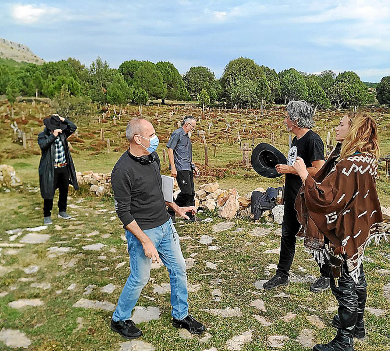 'Bizarre Routes' filming in Spain.