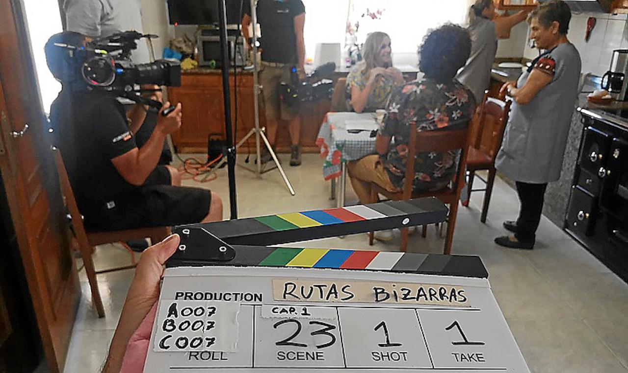 'Bizarre Routes' filming in Galicia, Spain.