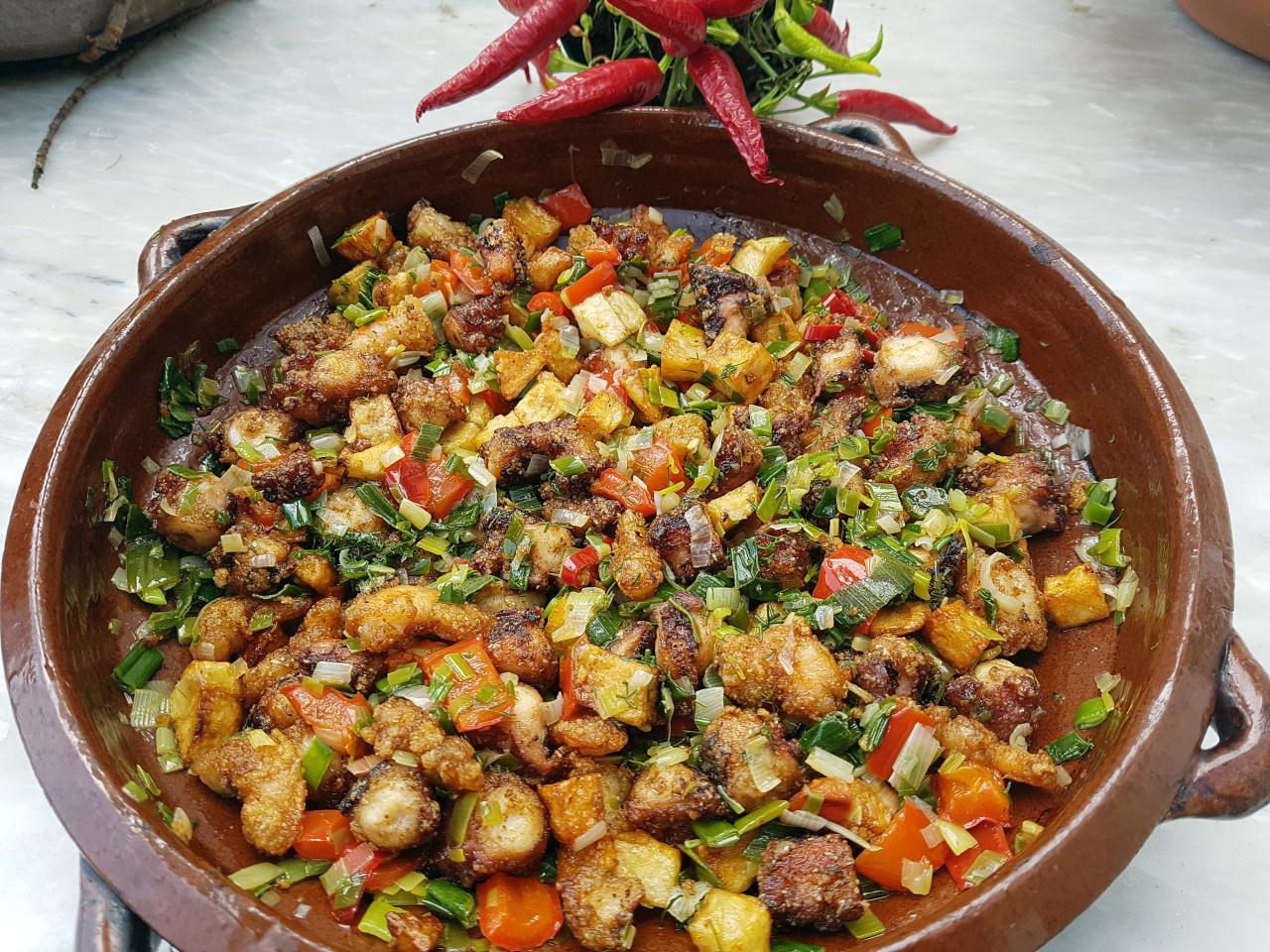Majorcan dish wich uses sofrito