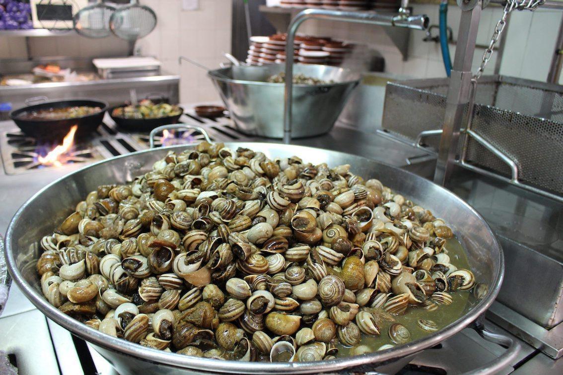 Snails at Es Cruce Restaurant, Vilafranca.
