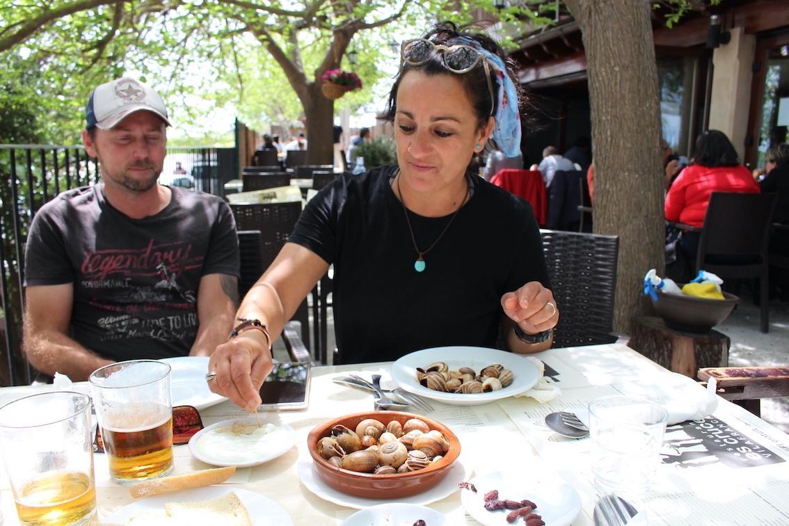 Christina Rico travelled from Calvia to eat snails at Es Cruce Restaurant, Vilafranca.