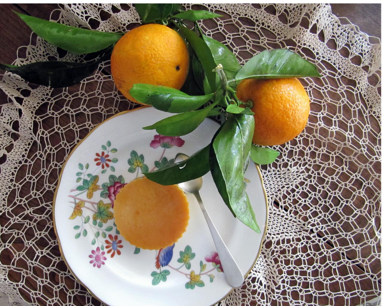 Flan of Orange from Soller