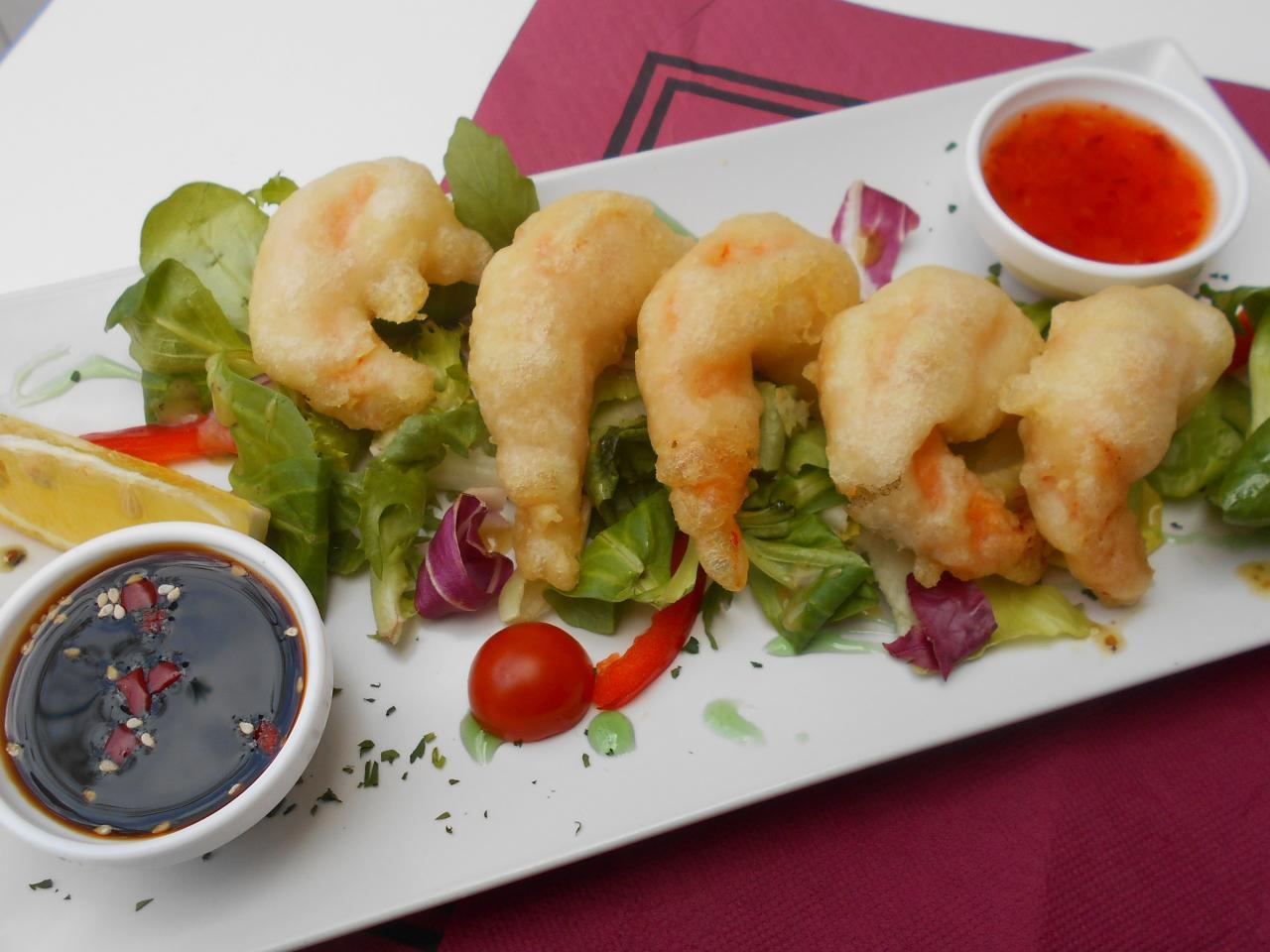 The tempura langostinos were worth a 10-rating