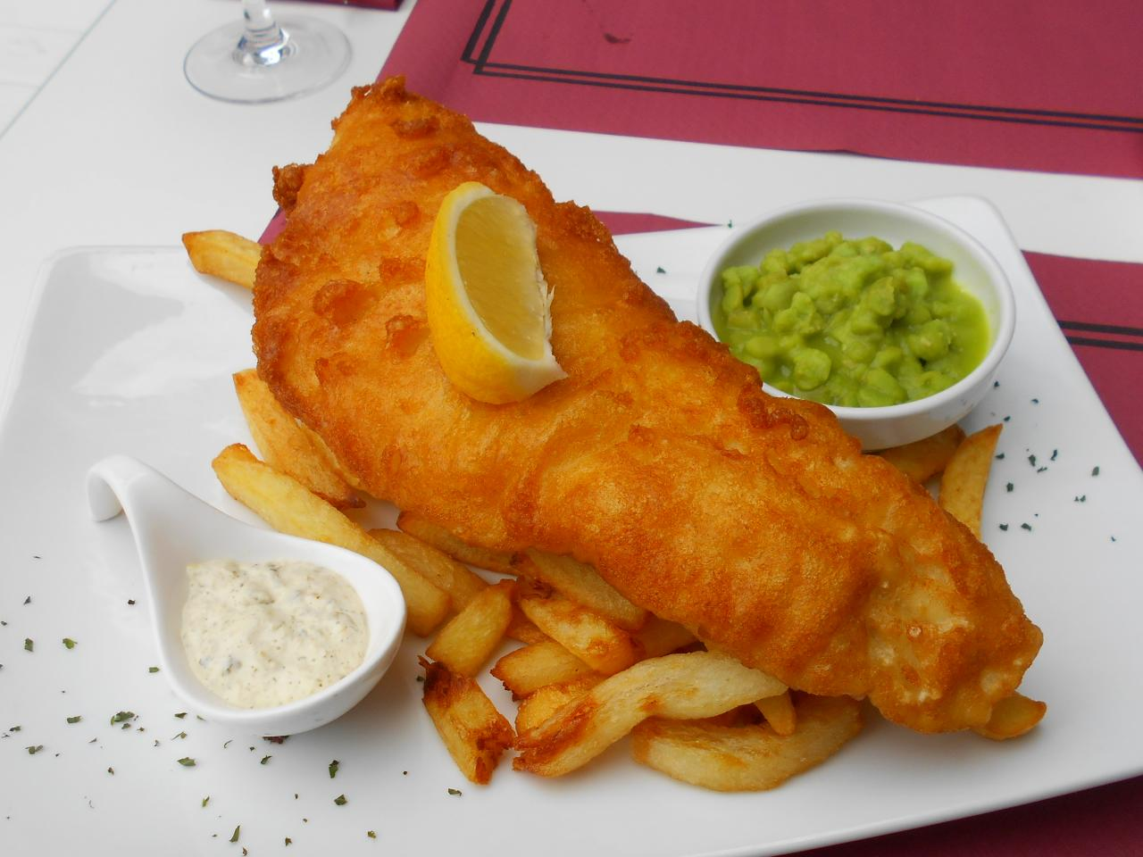 The jumbo version of fish and chips