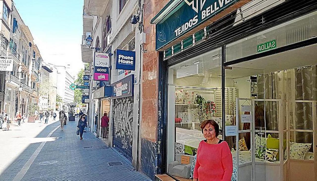 María Teresa outside Texits Bellver, Palma.