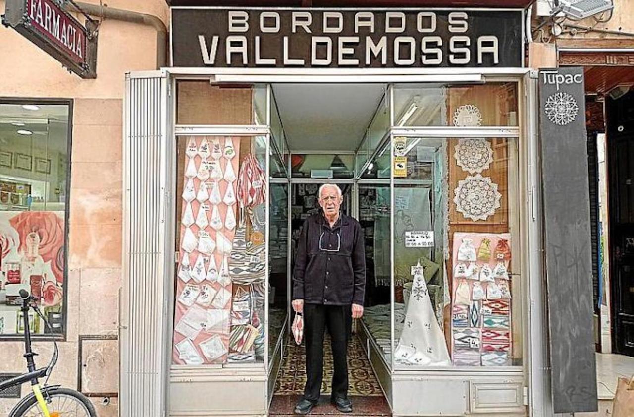 Juan Binimelis outside Bordados Valldemossa in Palma.