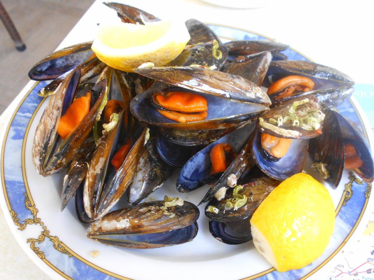 The mussels were plump and flavourful