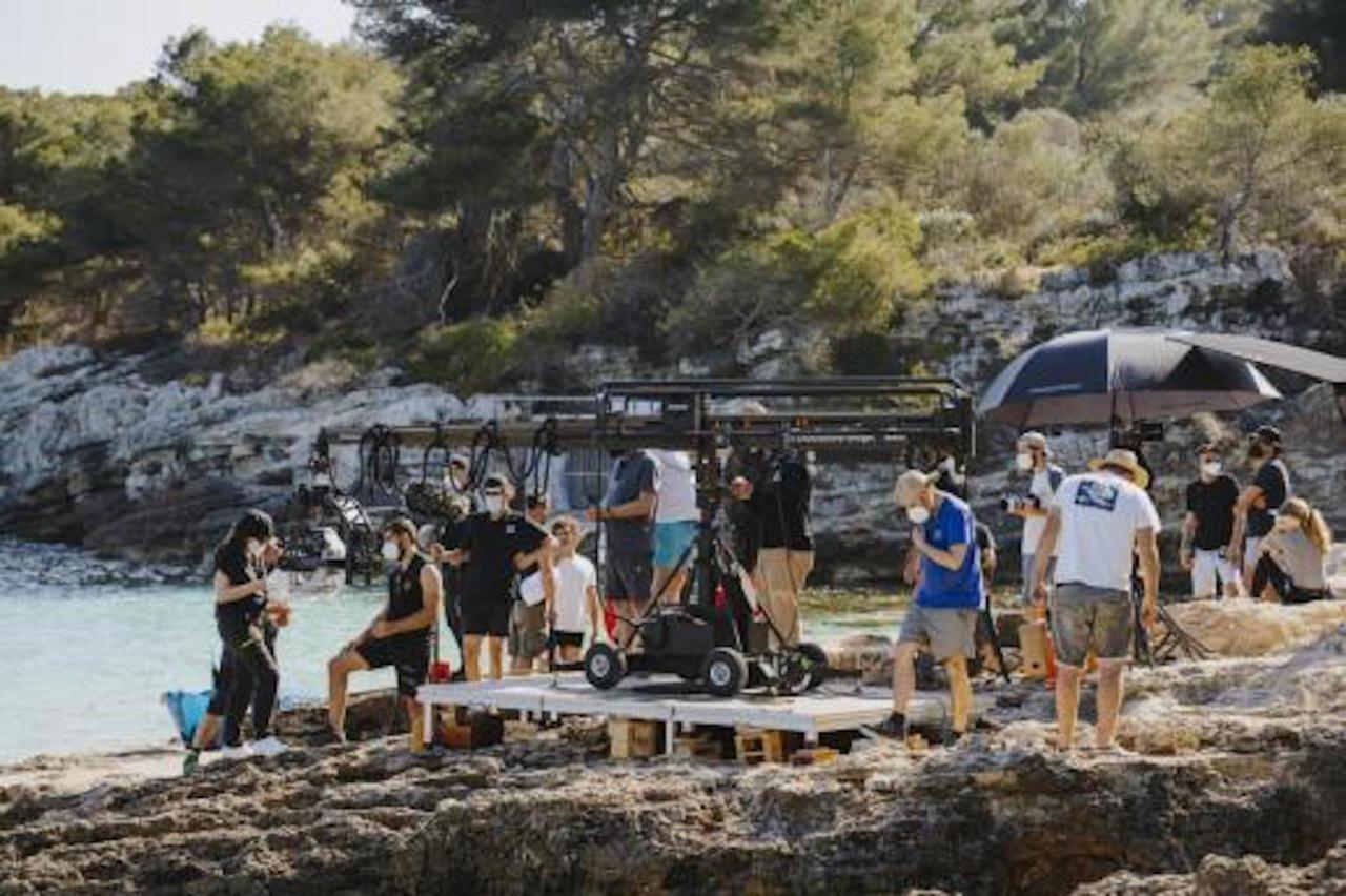 Estrella Damm filming in Minorca.