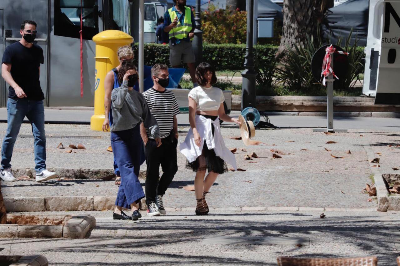 Ana de Armas during La Lonja shoot in Palma.