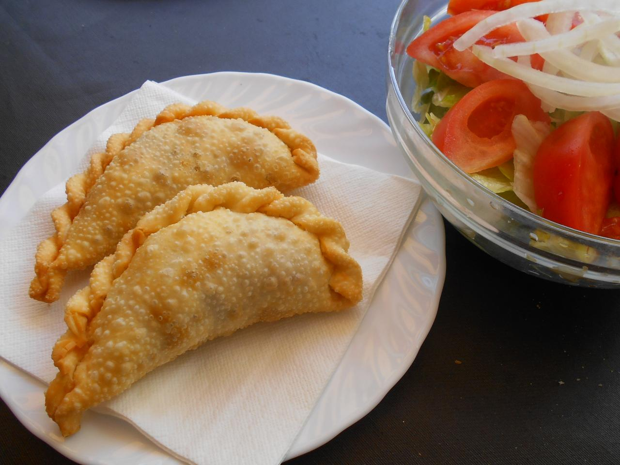 The empanadas and the 10-rated salad