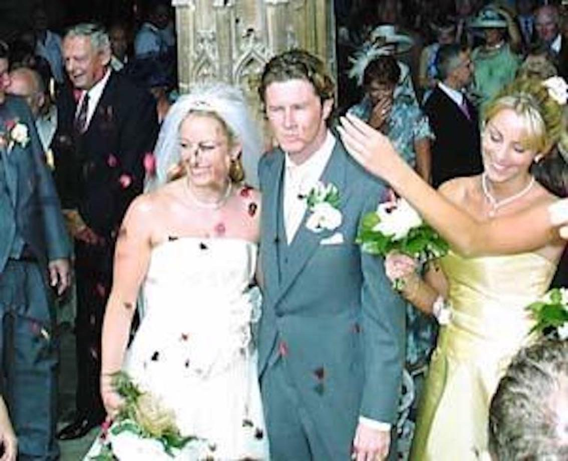 Steve McManaman & Victoria Edwards on their Wedding day.