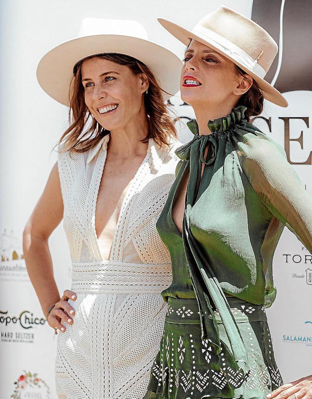 Ruth Llopis & Macarena Gómez at Hats & Horses in Minorca.