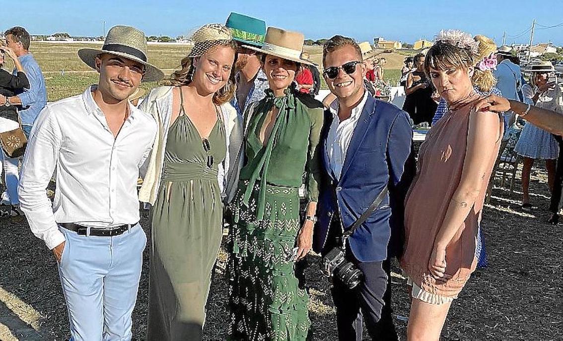 Josep Gayón, Maria Pons, Macarena Gómez, Joan Allés & Carla Eddles at Hats & Horses, Minorca.