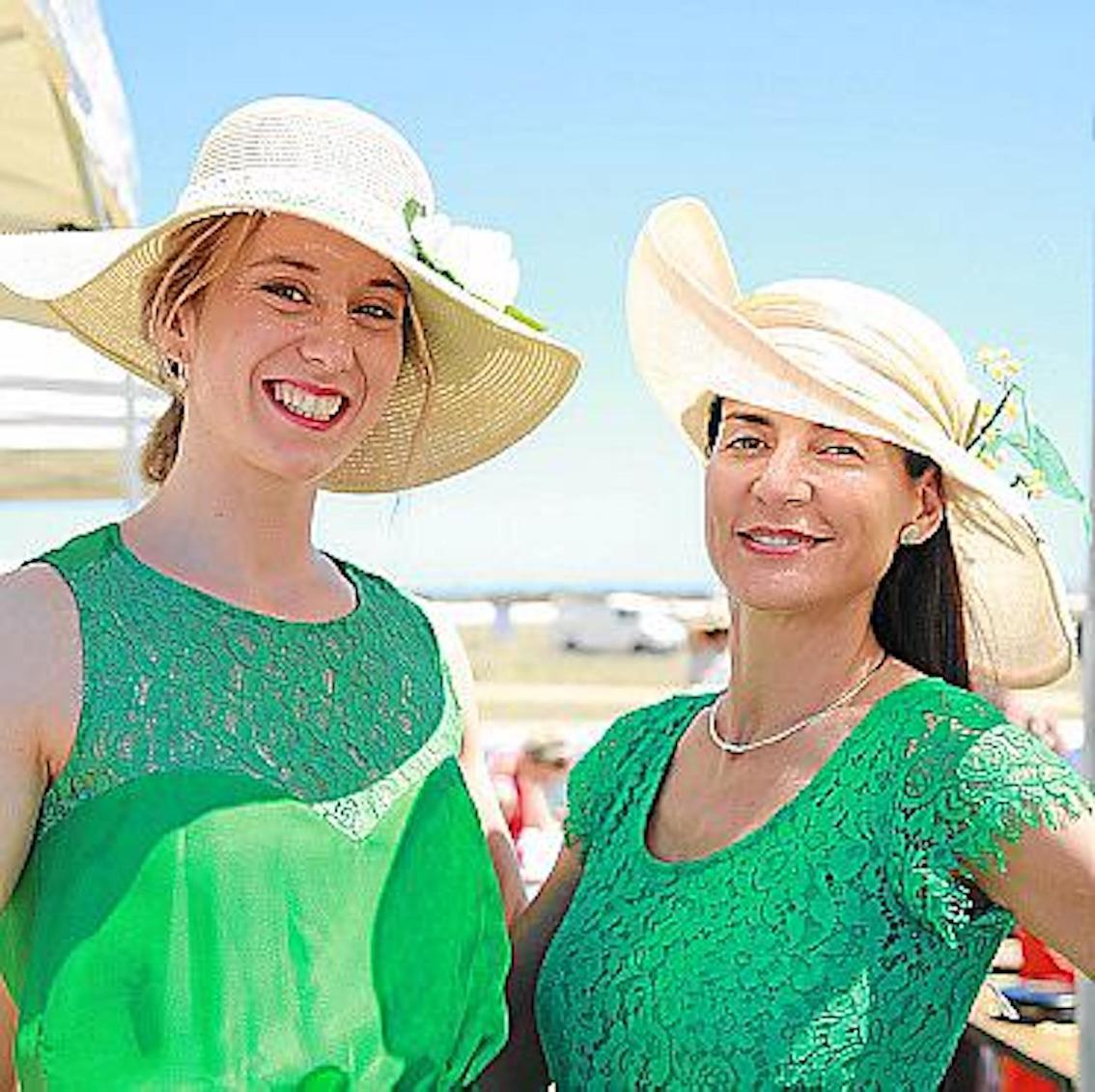 Luciana Pons & friend at Hats & Horses, Minorca.