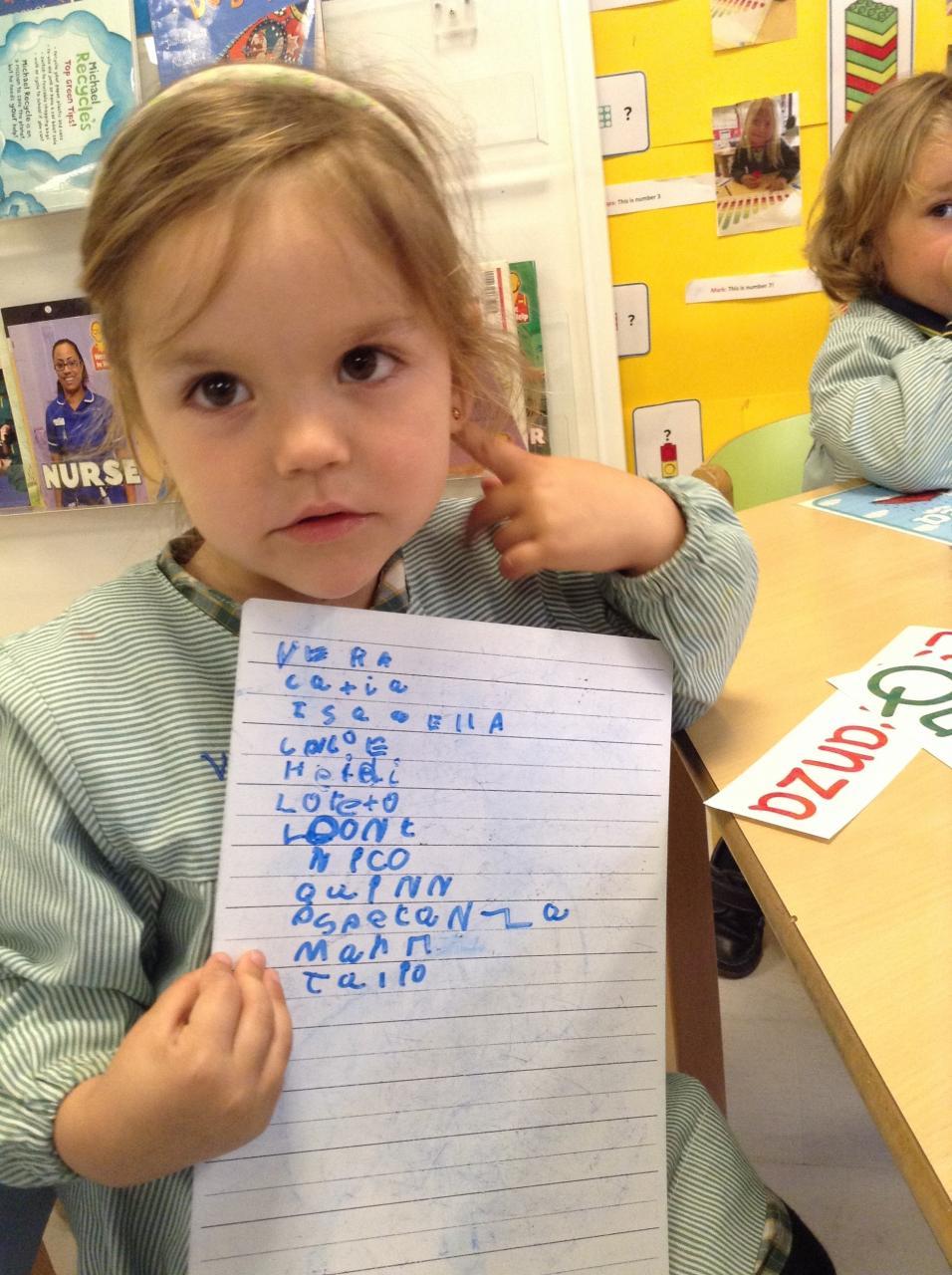 "Last week the children loved being ""teachers"""