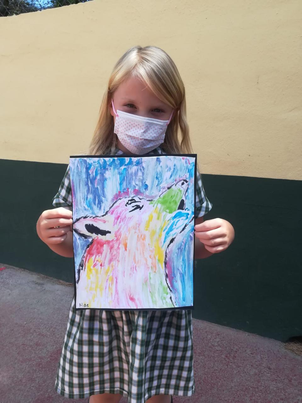 """The """"wolf study"""" was then extended into the art lesson"""