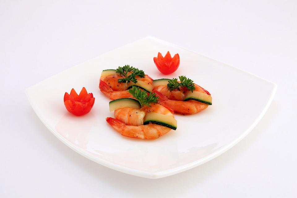 Prawns with courgette