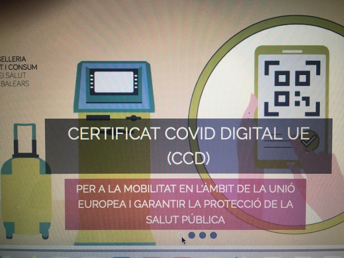 Covid Digital Certificate available online.