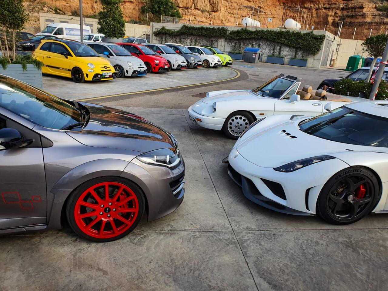 Pocket Rockets better known as Fiat Abarths, ready to party