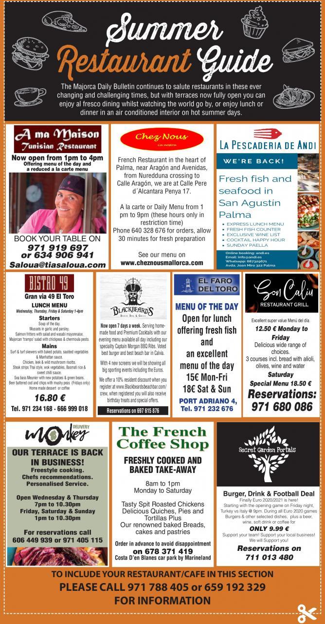 Bulletin restaurant guide