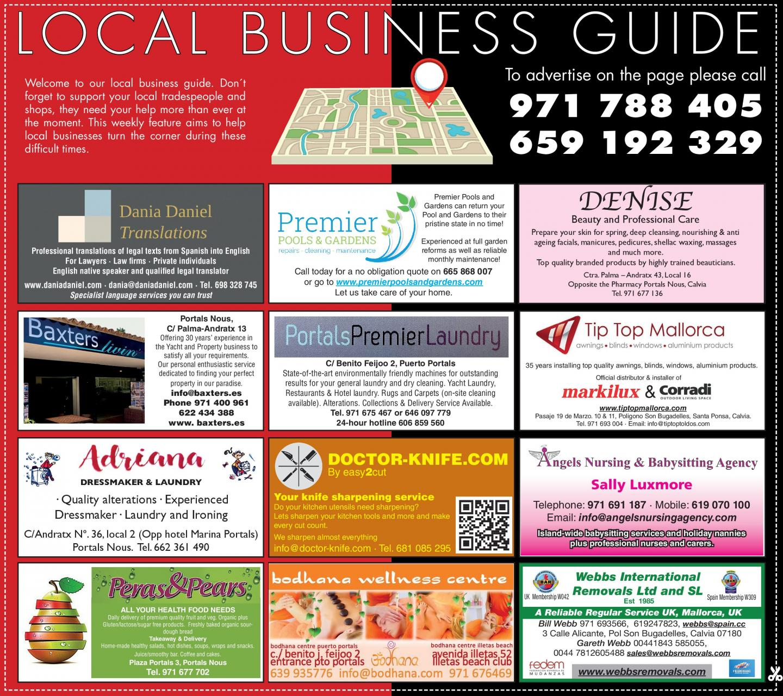 Guide des entreprises locales
