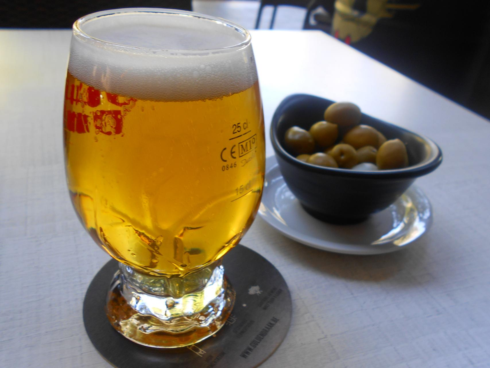 The lager, a fine light beer