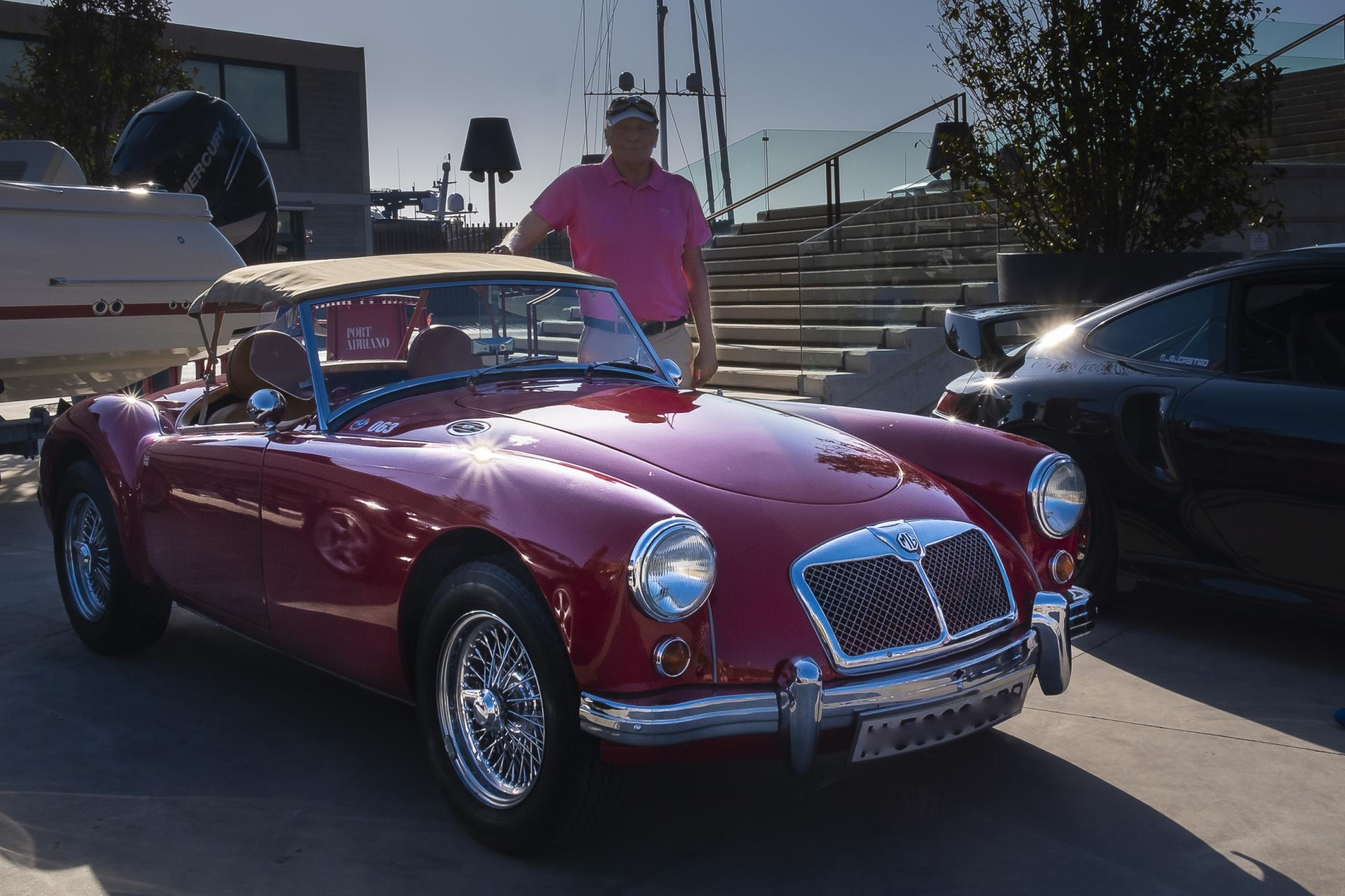A proud owner with his gorgeous MG at the Thursday weekly meetup
