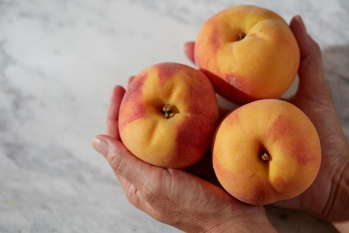 The peach originated in china