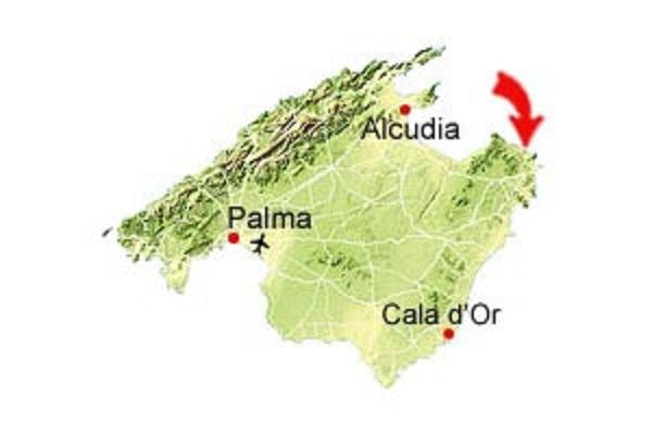 Map of Cala Gat beach