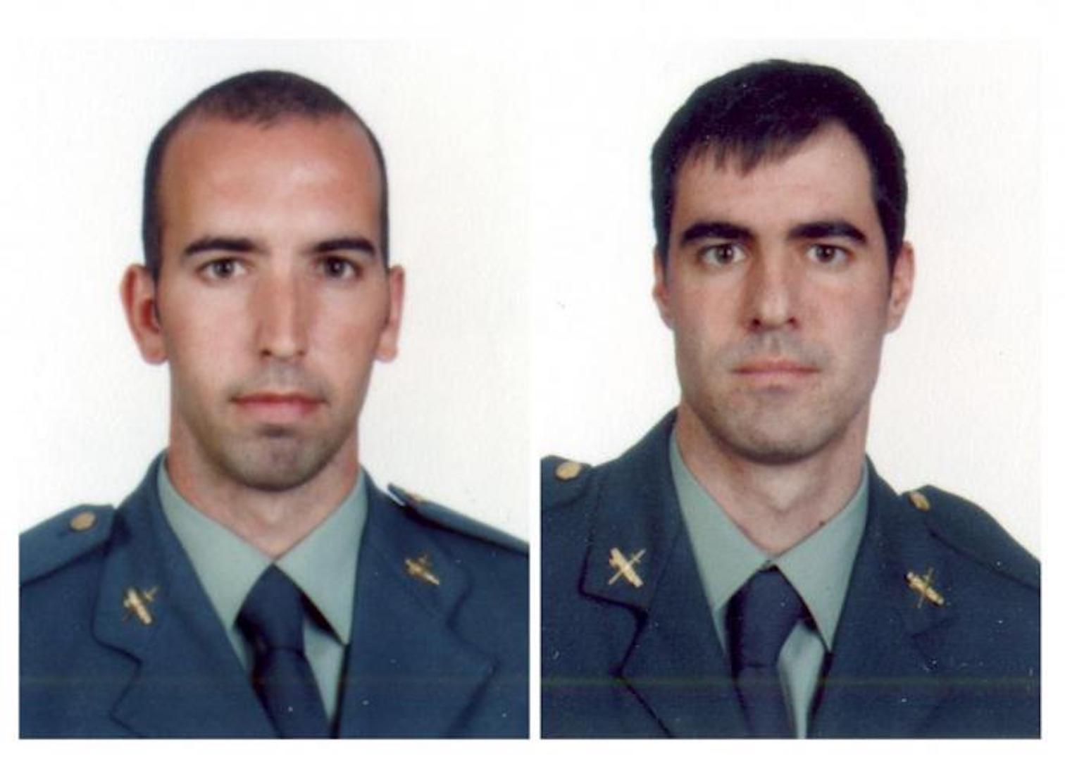 Bomb victims, Guardia Civil Officers, Diego Salva Lezaun & Carlos Saenz de Tejada García.