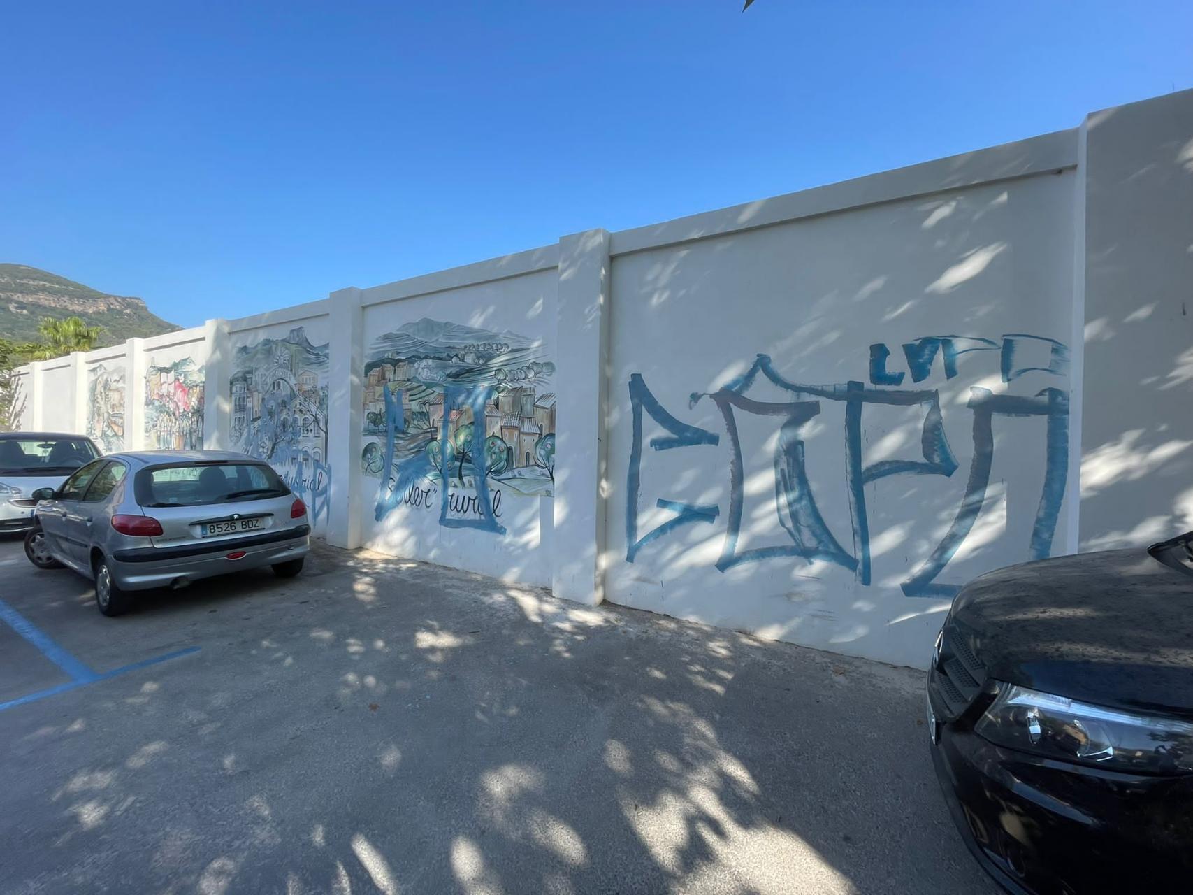 mindless graffiti vandalism.