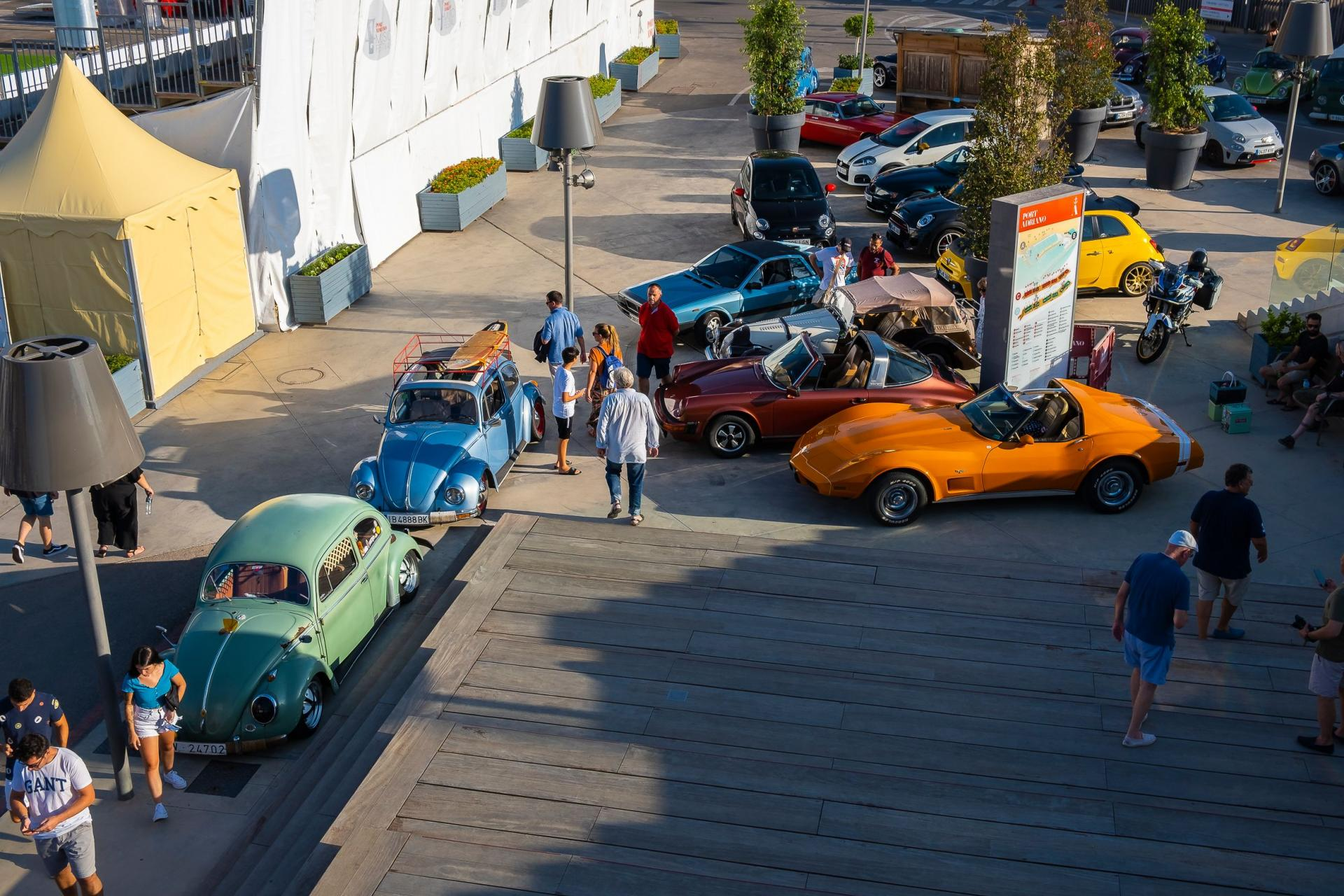 Just a few of the cars which turned out for the Easy Russell run.