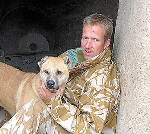 Pen and Nowzad in Helmand province 2007.