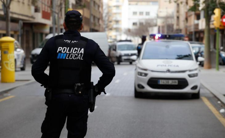 the police putting an end to a party with over 100 people at a rented villa in the Beverly Hills of Mallorca