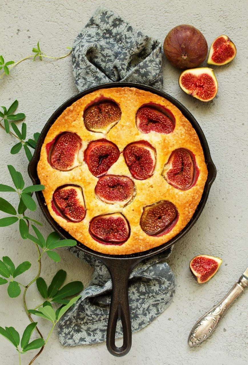 Fig, Honey and lemon thyme clafoutis