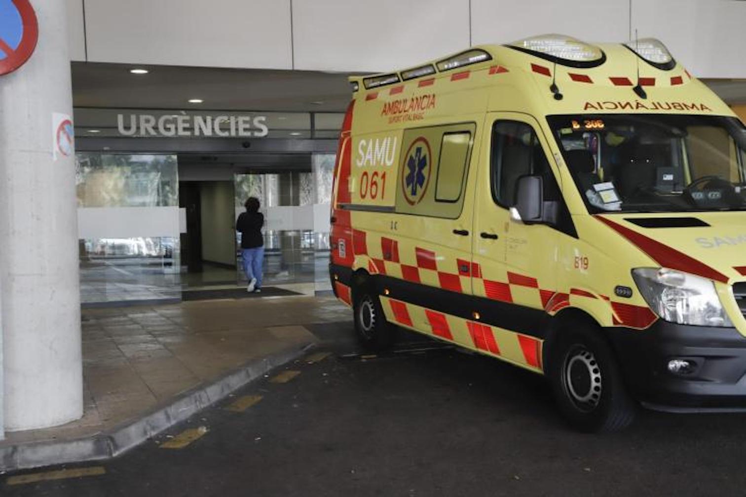 Ambulance at Son Espases Hospital, Palma.