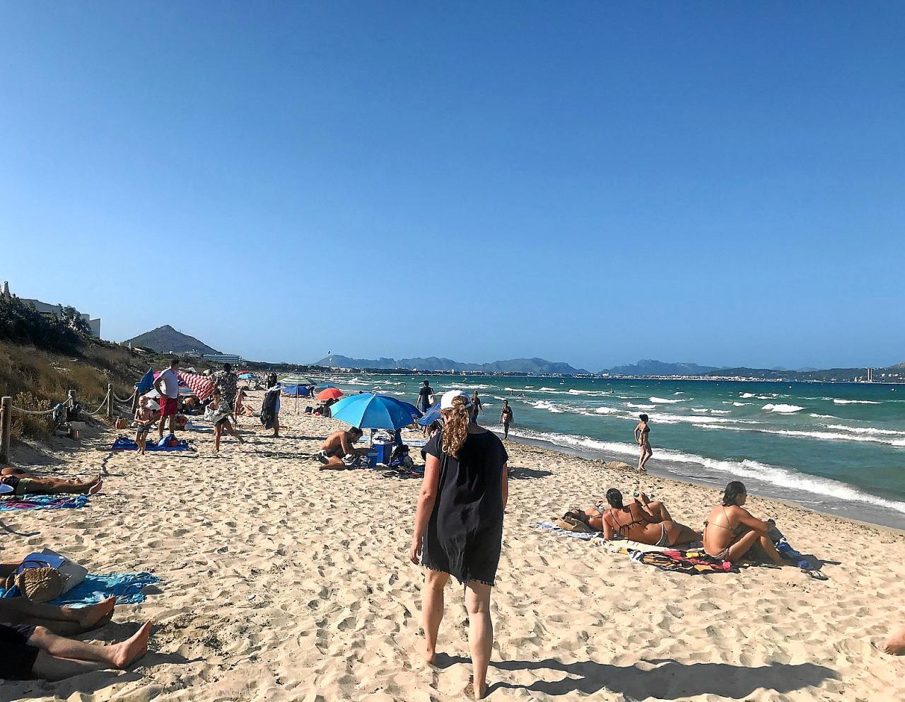 Waves crashing onto a long strip of beach,Truro