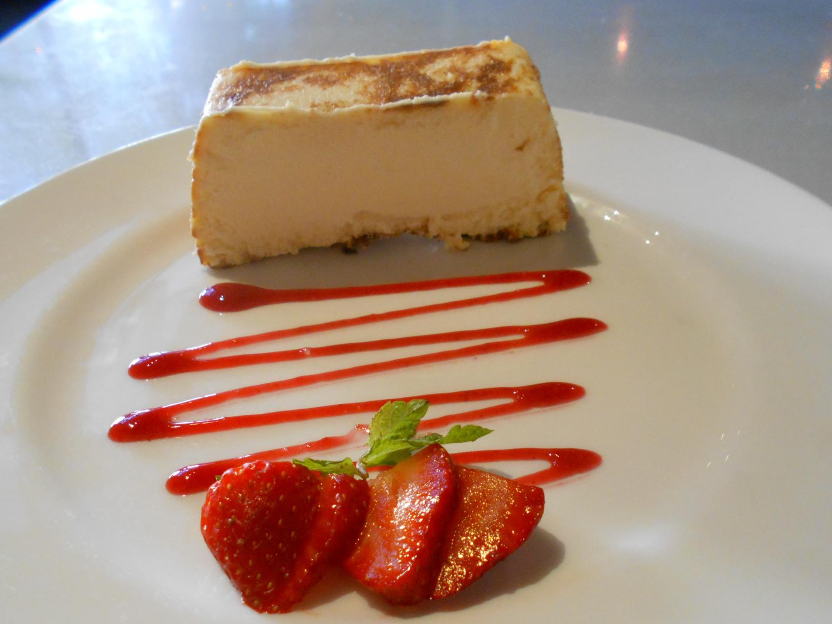 The tarta de queso.