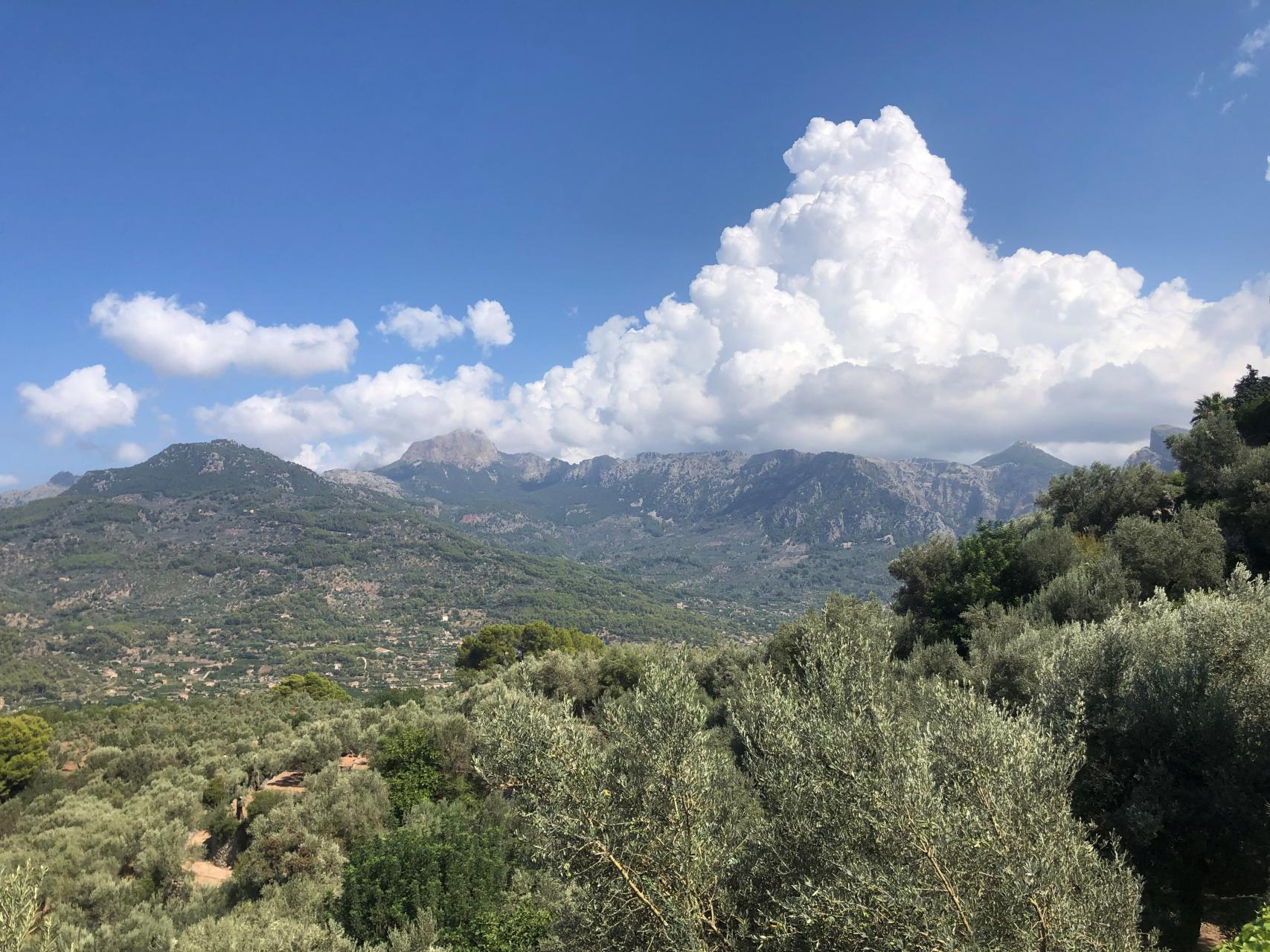 Clouds gathering above Sóller Valley