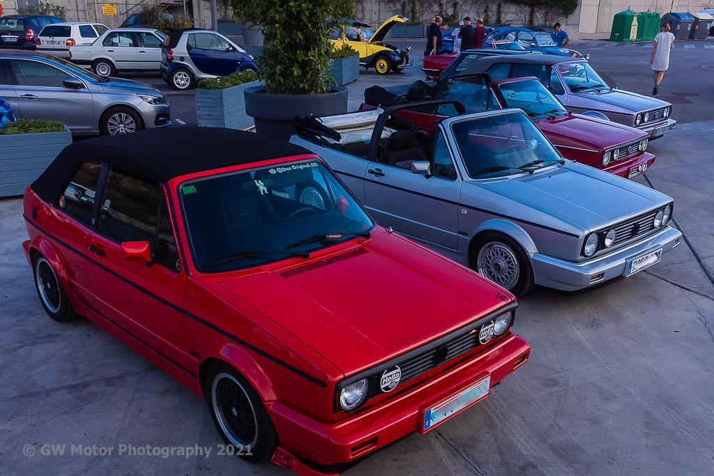 The tricky Golf GTIs lined up for a portrait