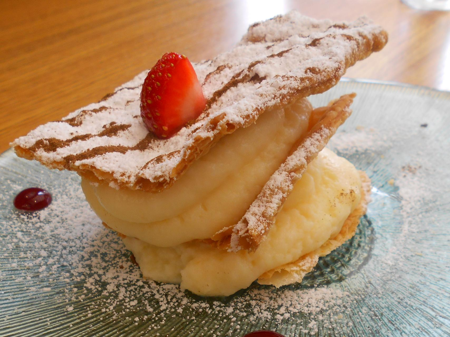 The millefeuille was absolutely delish.