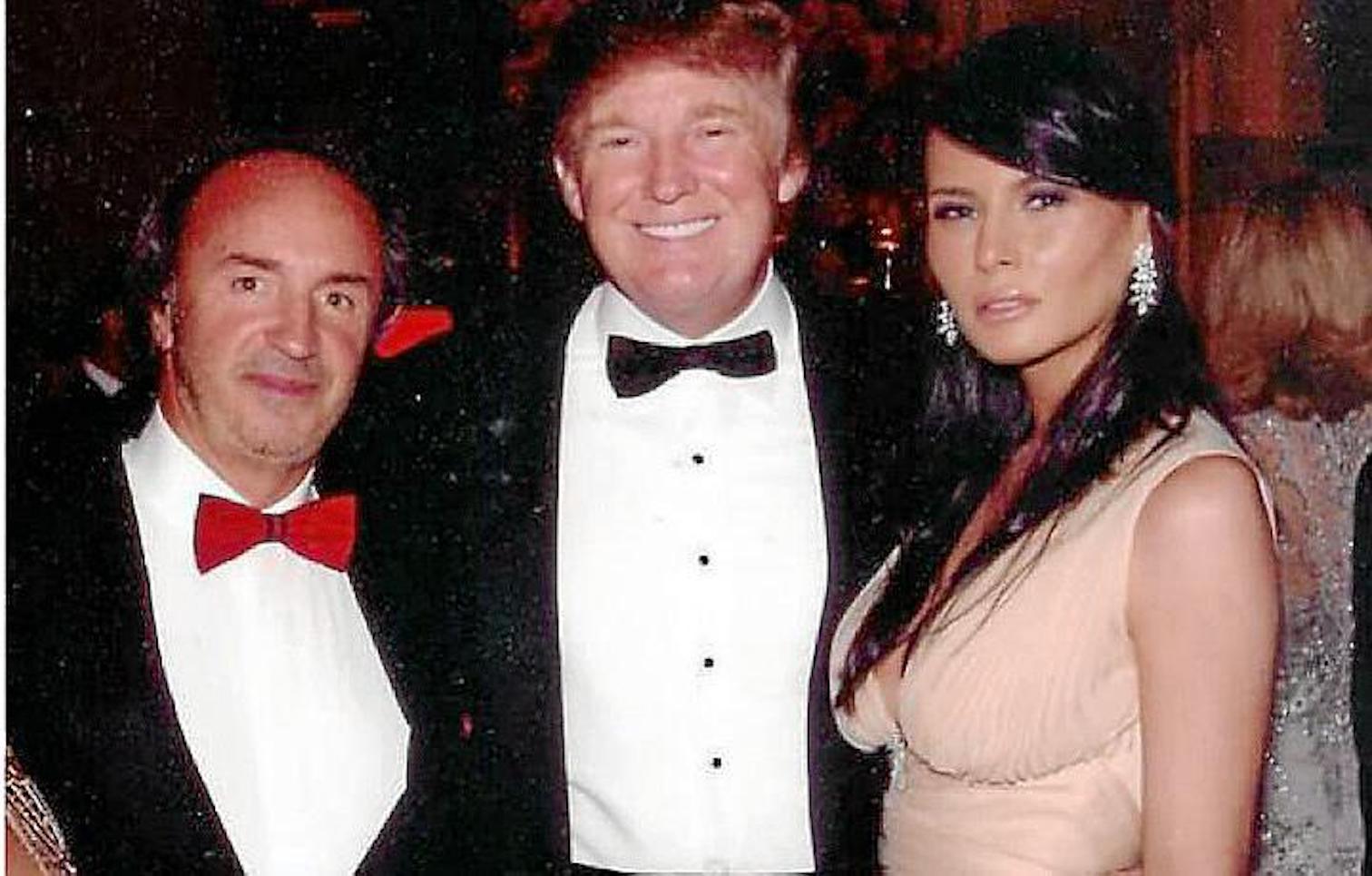 George Lombardi with Former US President, Donald Trump & wife Melanie.