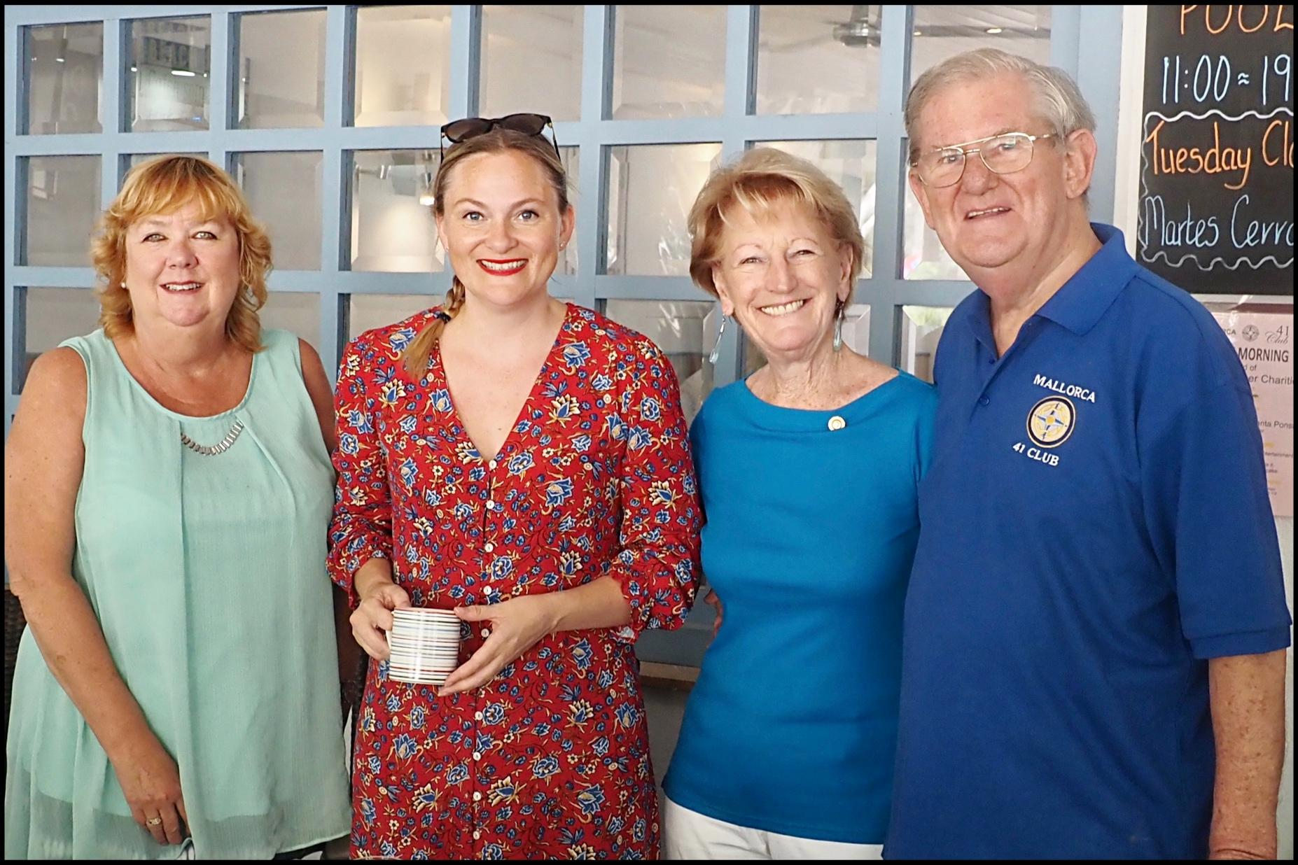 L-R: Lucy Gorman and Lucy Gorman from the British Consulate, Kate Menthink and Edward Ingram